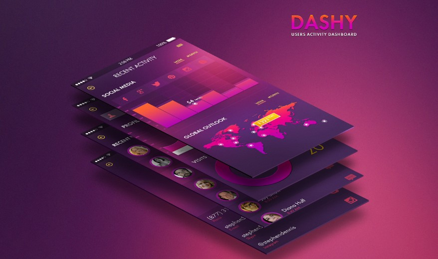 Dashy material UI kit