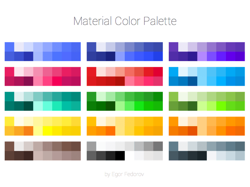 Material Color Palette Sketch Resource