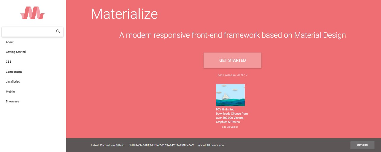 Materialize css Material Design Applications Framework