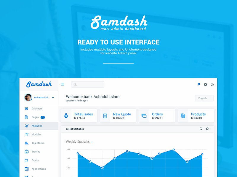 Samdash Smart Admin Dashboard