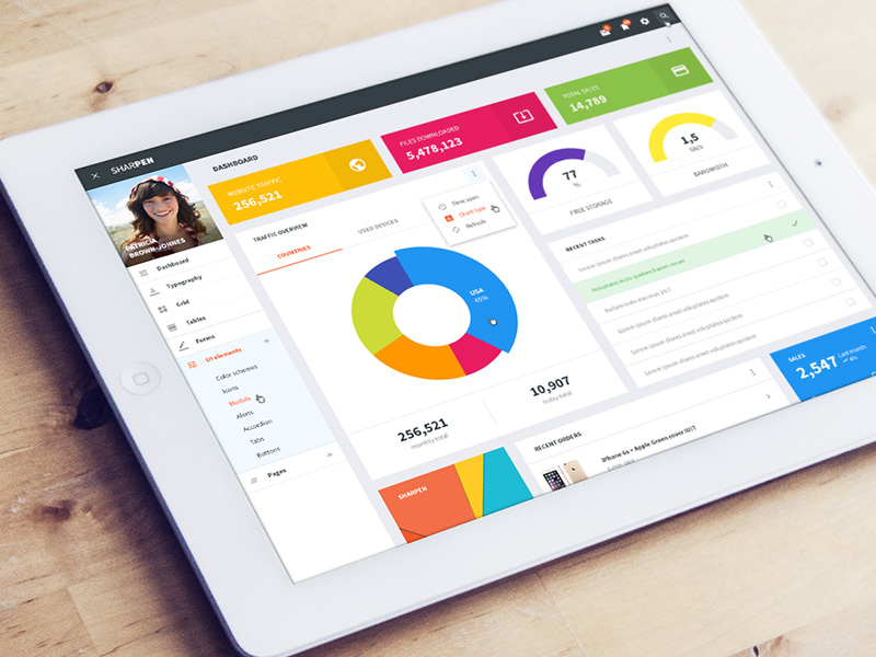 Top Material Design HTML Admin and Dashboard Templates & Themes