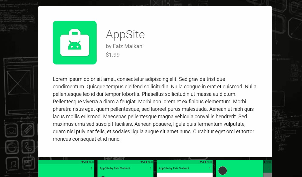 appsite material template