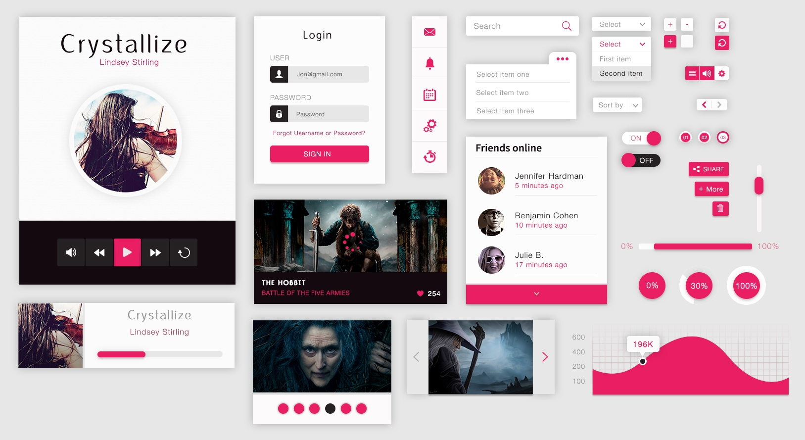 crystallize material ui kit