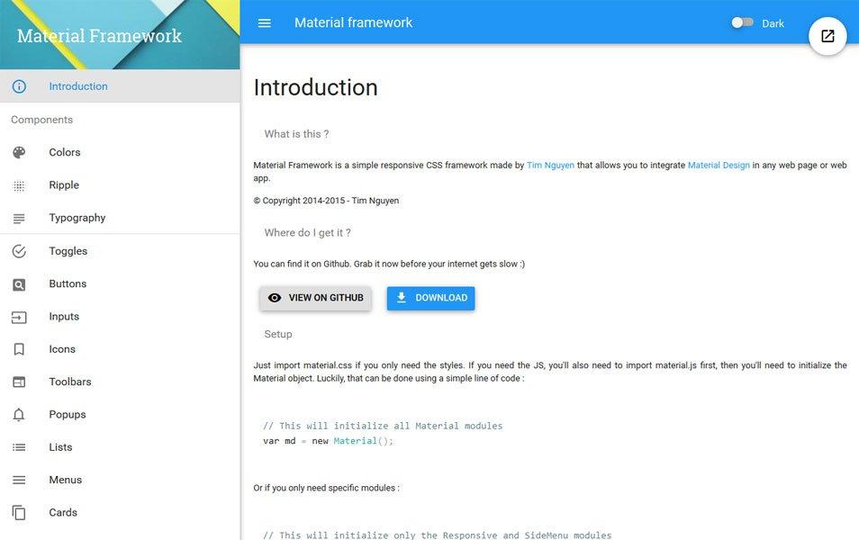 free Material Framework
