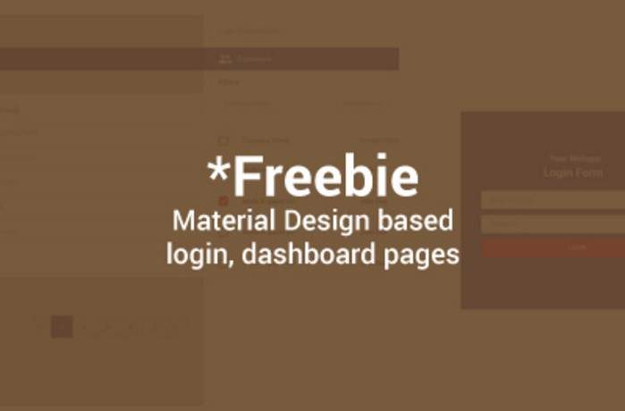freebie naterial design admin template