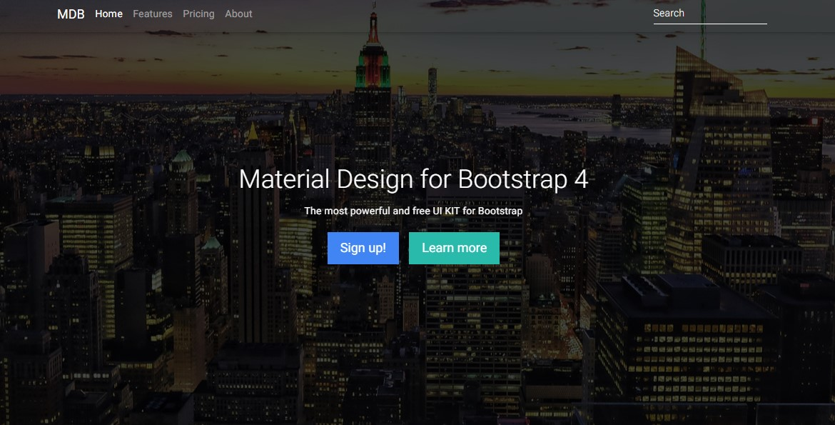 full background material design template