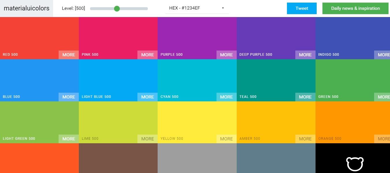 material UI color palette