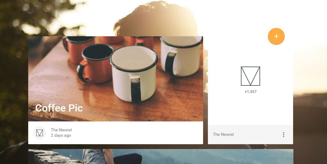 material design blog template