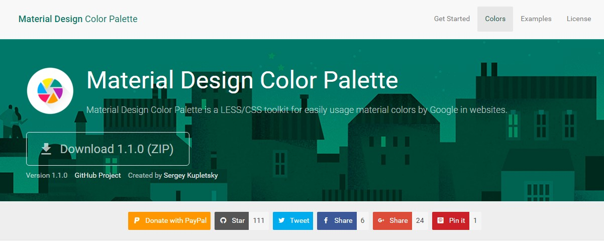 Material Design Color Palatte