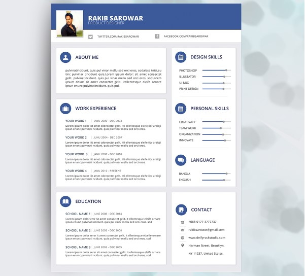20  best free material design resume and cv templates