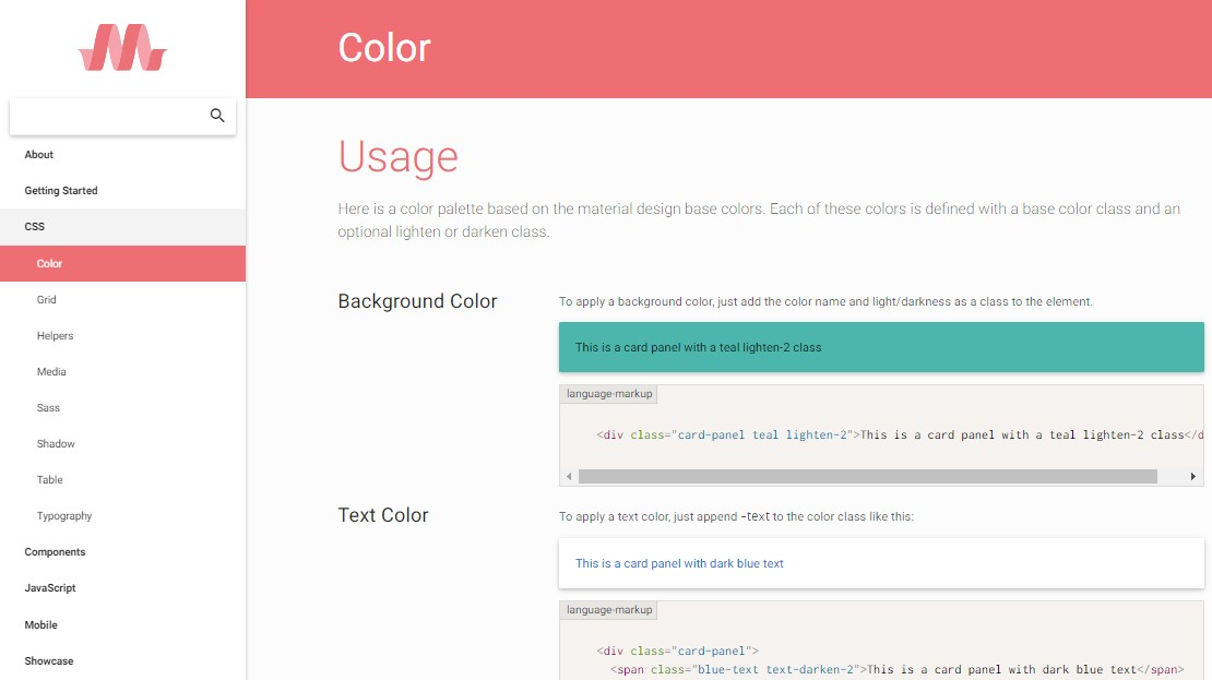 materialize css color generator
