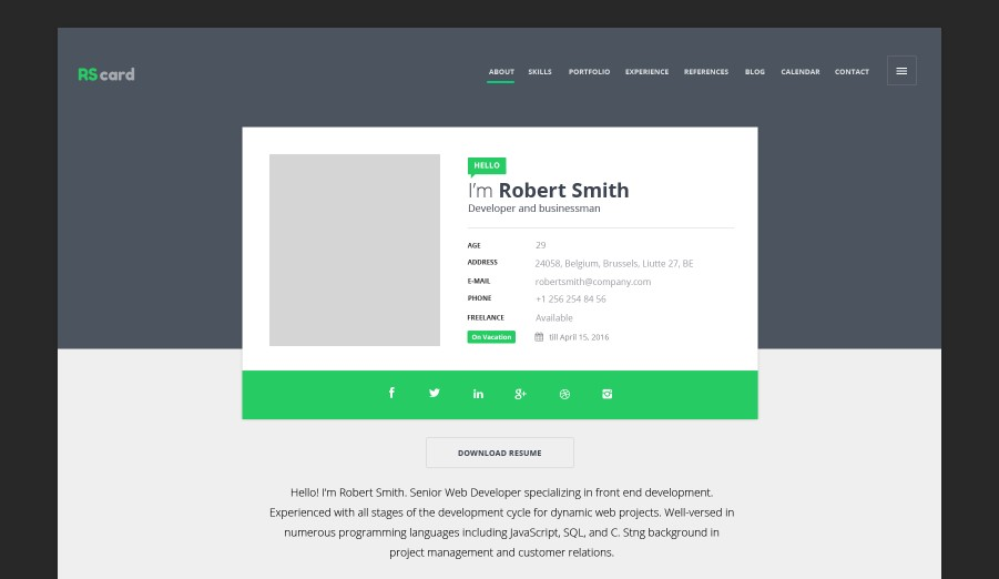 rscard material design template