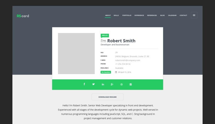 rscard material design template