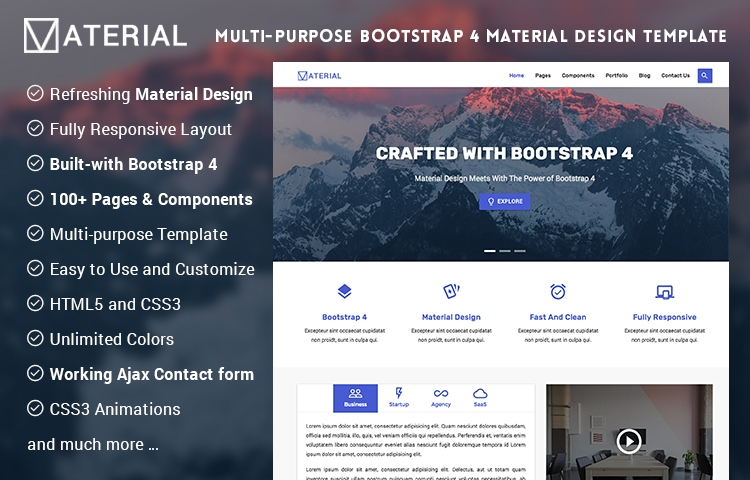 20+ Responsive Free Material Design HTML Templates & Themes 2017