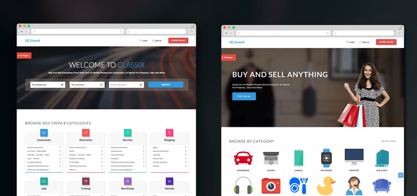 Free Responsive Classified ads HTML Website TemplateTheme UIdeck