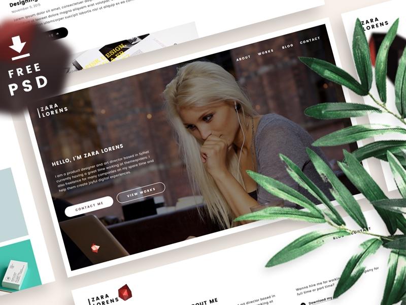 free_psd_portfolio_design