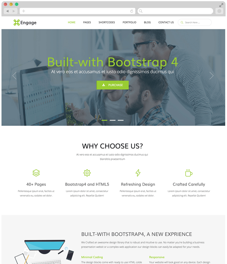 Engage – Bootstrap 4 Template/Theme, Free and Premium Version