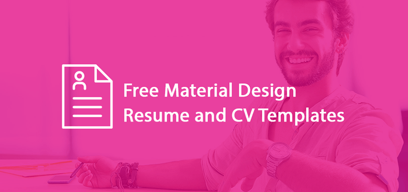 20+ Best Free Material Design Resume and CV Templates