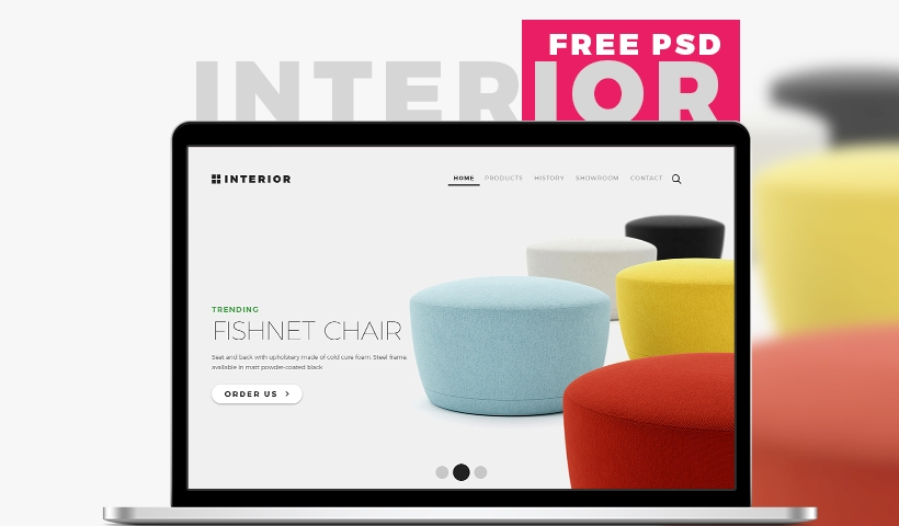 23b3b45448 Interior – Multi-purpose Furniture Store and Interior PSD Template Free  Download