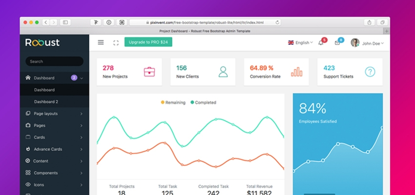 robust admin lite is super flexible powerful clean modern responsive free bootstrap admin template with unlimited possibilities - Bootstrap Admin Template Free