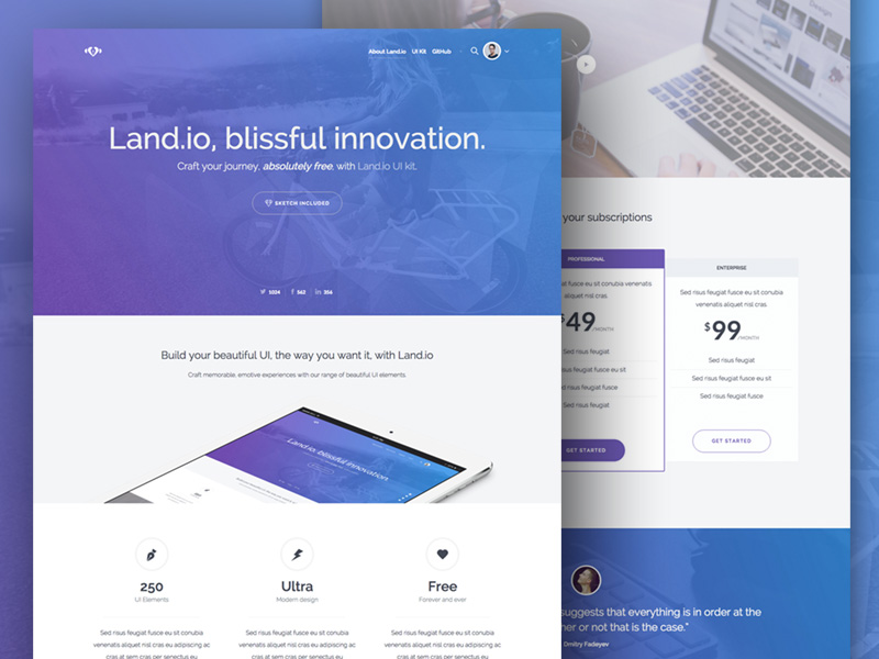 20+ Best Free Premium Bootstrap Landing Page Templates