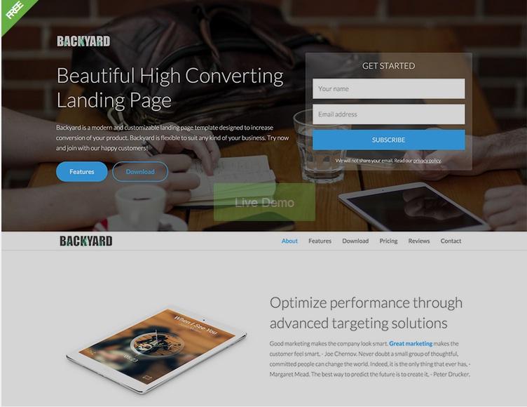 20 Best Free Premium Bootstrap Landing Page Templates