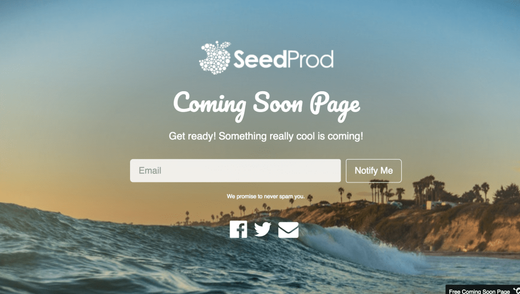 for your under construction coming soon website seedprod can be the best template this free to use template comes to us with 6 background images for you to