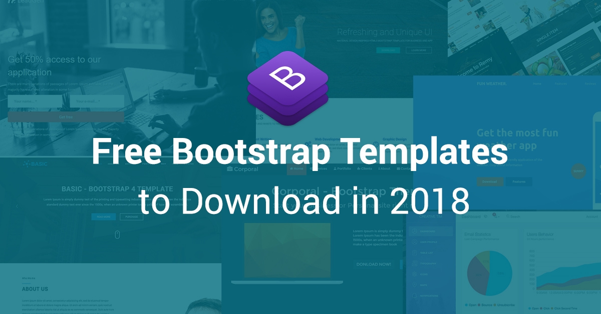 50 best free bootstrap html5 templates 2018 uideck today mobile devices are the trend and widely popular on the planet these type of smart devices with different resolutions have made responsiveness and maxwellsz