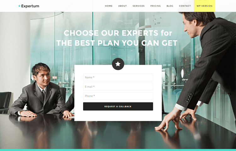 50 best free bootstrap html5 templates 2018 uideck expertum is a free html5 and bootstrap based business website template the look of this theme is stunning and eye catching if you are going to start your friedricerecipe Images