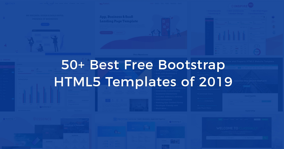 60+ Best Free Bootstrap Templates to Download in 2019