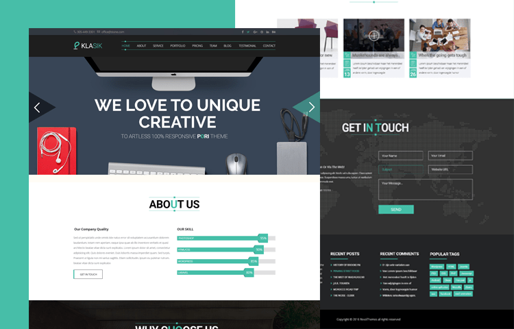 40+ Free One Page Templates of 2019 | UIdeck