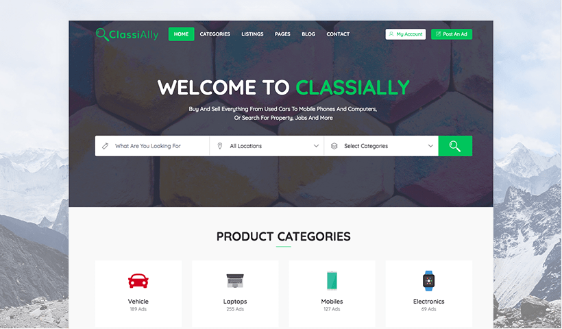 ClassiAlly - Free Classified Ads, Listing, and Directory Template