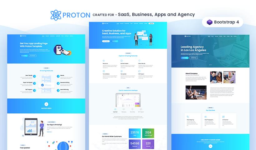 Proton – Startup, Agency, SaaS & WebApp Template