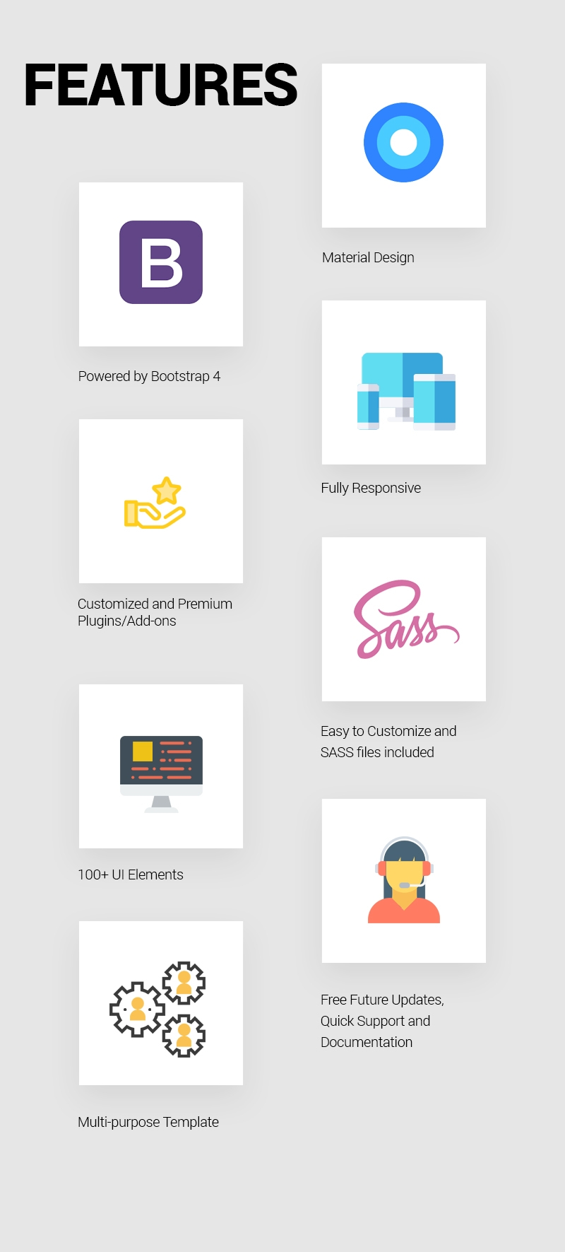Material - Free Material Design Bootstrap 4 UI Kit | UIdeck