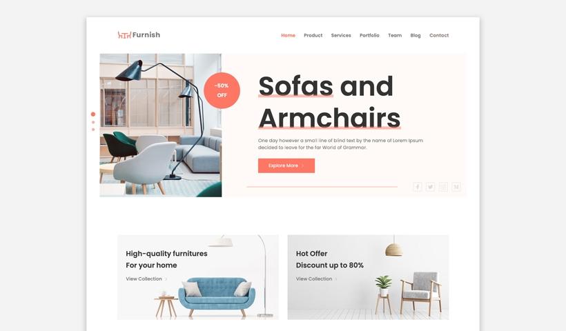 Furnish Free Furniture Website Template Uideck