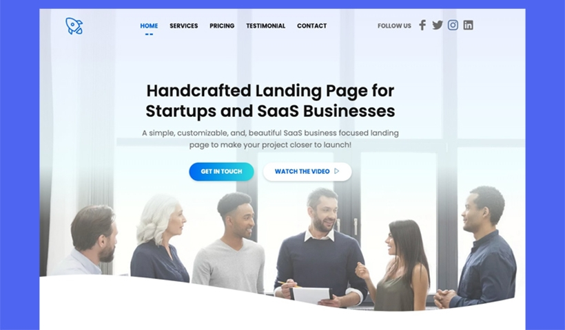 Start – Landing Page for Startup and SaaS Business
