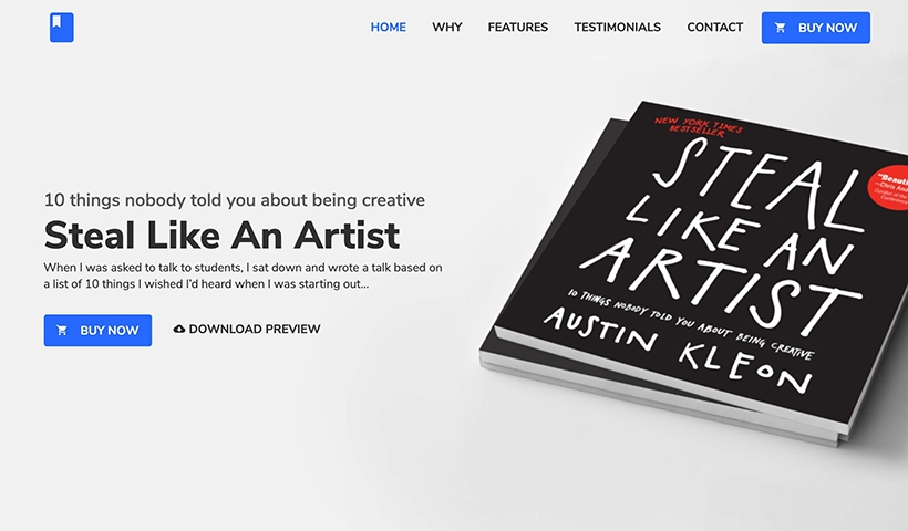 BookLand – Bootstrap HTML Book Landing Page Template