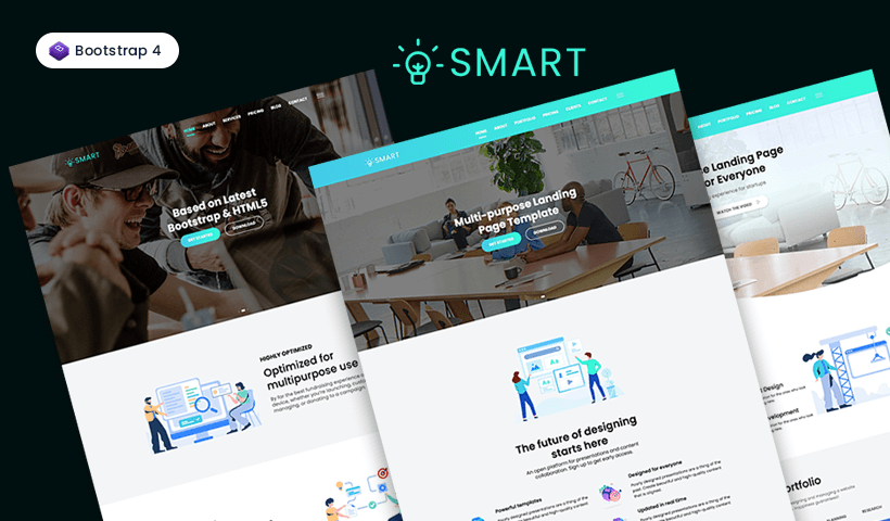 Smart – Multi-purpose One Page Bootstrap Template