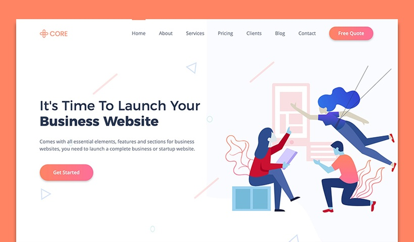 Core – Bootstrap HTML Business Website Template