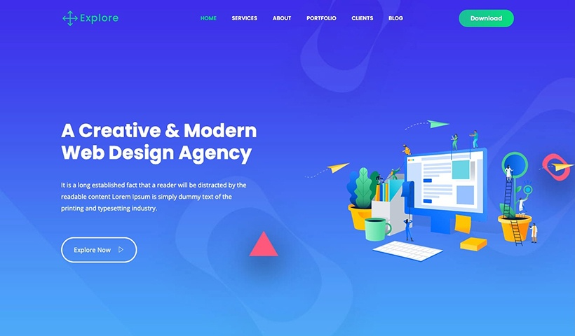Explore – Digital Agency and Portfolio Template