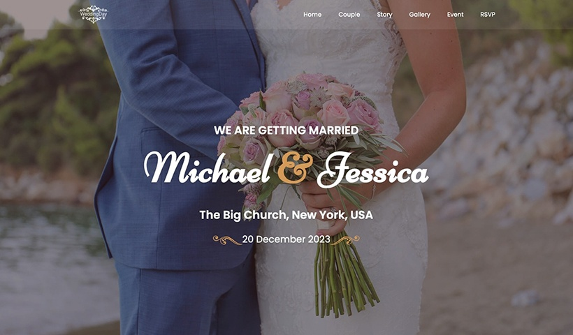 Wedding Day – HTML Wedding Website Template