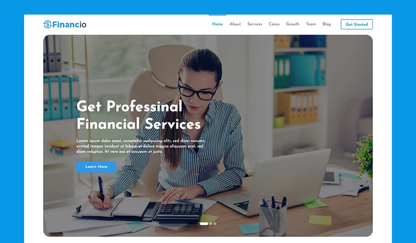 Financio – Finance and Investment Website Template