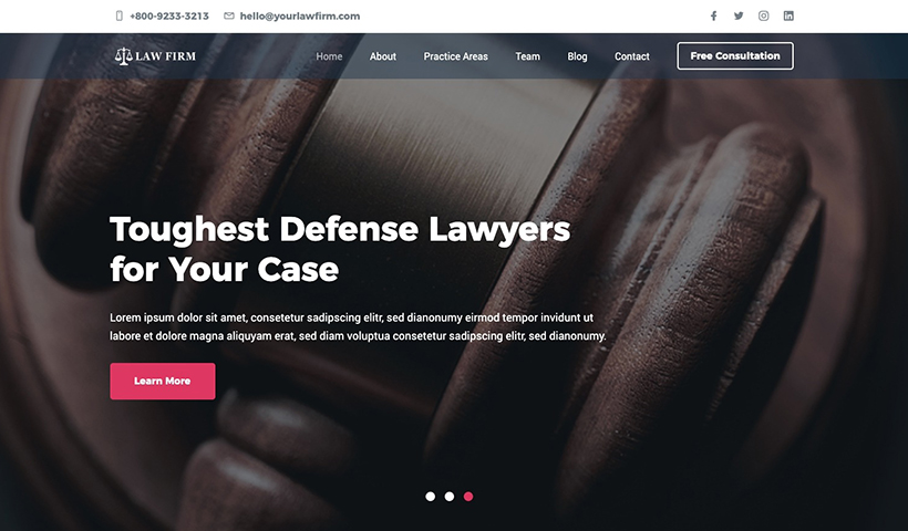 Law Firm – Lawyer and Law Firm Website Template