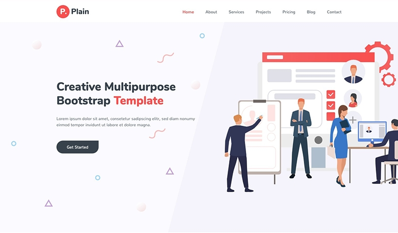 Plain – Creative Multipurpose Bootstrap Template