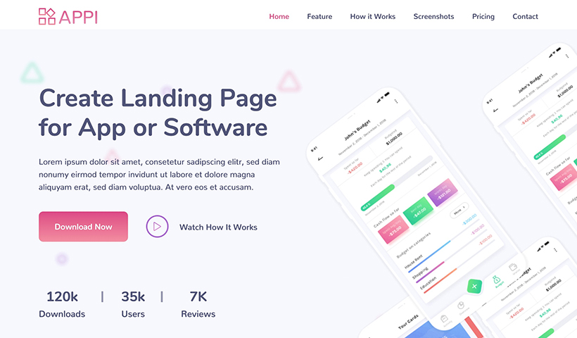 Appi – Bootstrap 5 Creative App & Software Landing Page