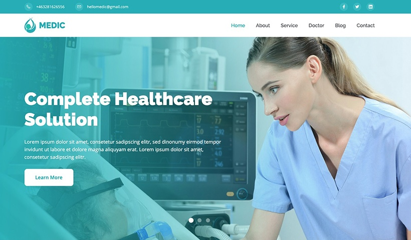 Medic – Health, Medical, & Hospital Website Template