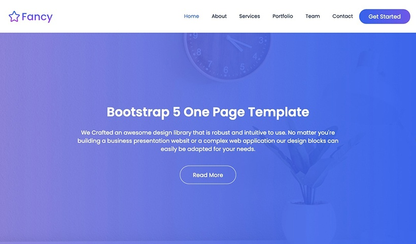Fancy – One Page Bootstrap 5 Template