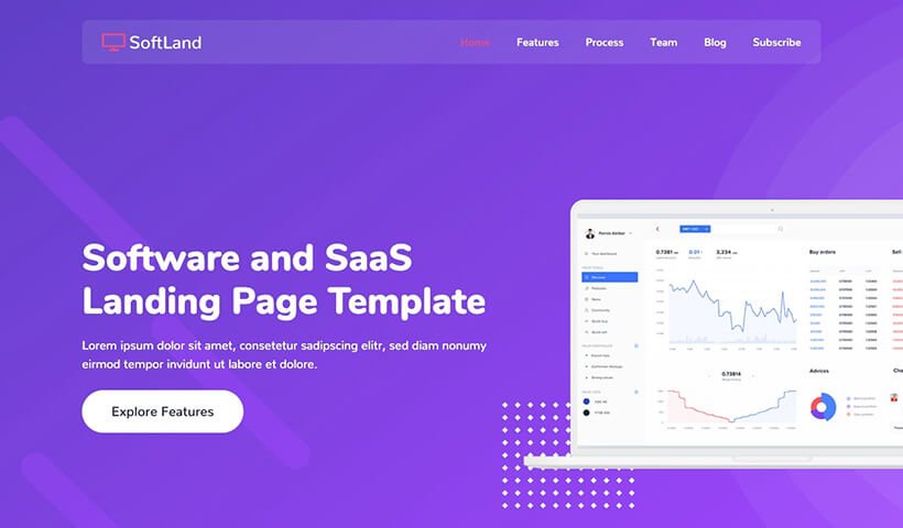 SoftLand – HTML Software and SaaS Landing Page Template