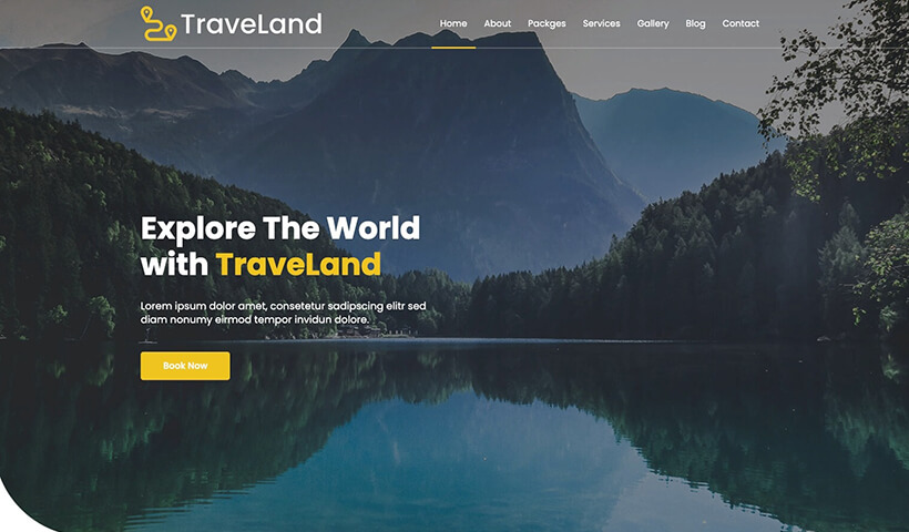 TraveLand – Tour & Travel Agency Website Template
