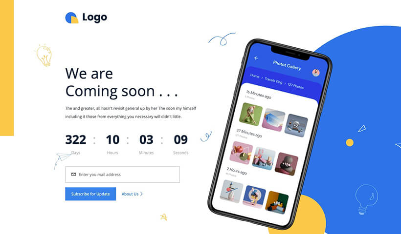 Launch – Free Coming Soon HTML Template